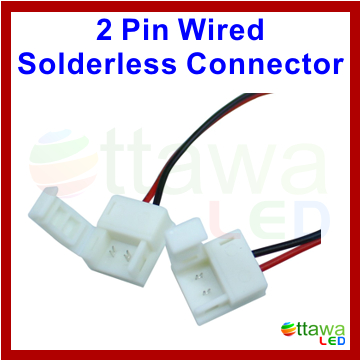 2 Pin Waterproof Strip to Strip Connector