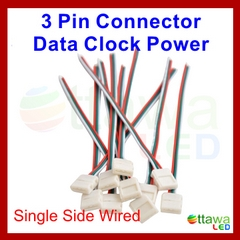 3 Pin WS2811 Solderless Connectors - Strip to Leads