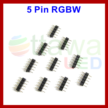 Coupler 5 Needle RGBW Strips