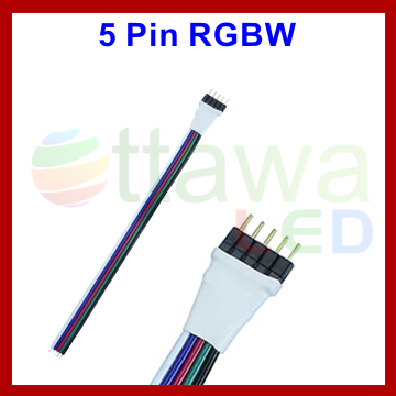 5 Needle to 4 Pin Leads RGBW Strips