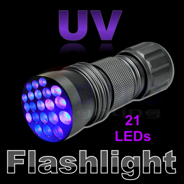 UV Ultraviolet 21 LED Flashlight