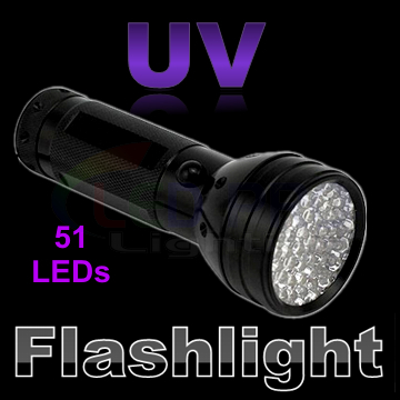UV Ultraviolet 51 LED Flashlight