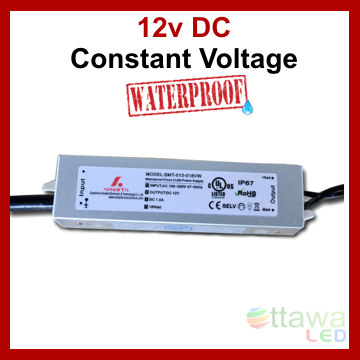LED Driver Constant Voltage Power Supply 12V 1.5A 18W IP67 UL Listed