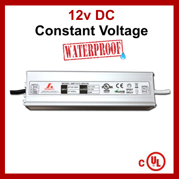 LED Driver Constant Voltage Power Supply 12V 5A 60W IP67 UL Listed