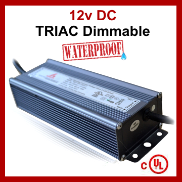 LED TRIAC Dimmable Driver Constant Voltage Power Supply 12V 8A 100W IP67 UL Listed