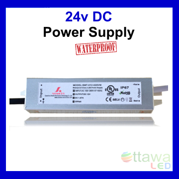 LED Driver Constant Voltage Power Supply 24V .62A 15W IP67 UL Listed - Ottawa LED