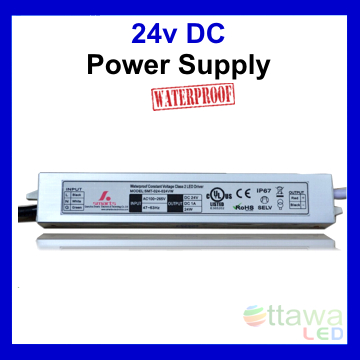 LED Driver Constant Voltage Power Supply 24V 1.25A 30W IP67 UL Listed - Ottawa LED