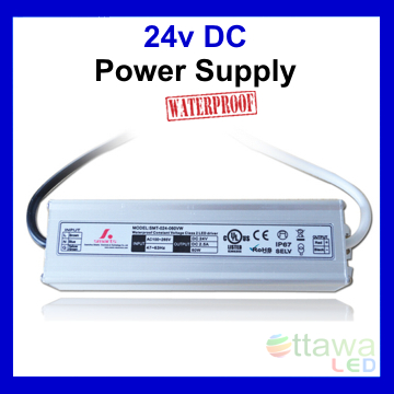 LED Driver Constant Voltage Power Supply 24V 2.5A 60W IP67 UL Listed - Ottawa LED