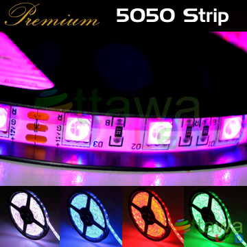 LED Strip 5050 300 RGB IP65 cUL Listed - Ottawa LED UL Strips