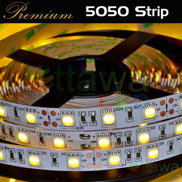 LED Strip 5050 300 Warm White cUL Listed - Ottawa LED UL Strips